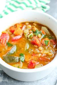 Healthy Vegetable Lentil Soup Recipe