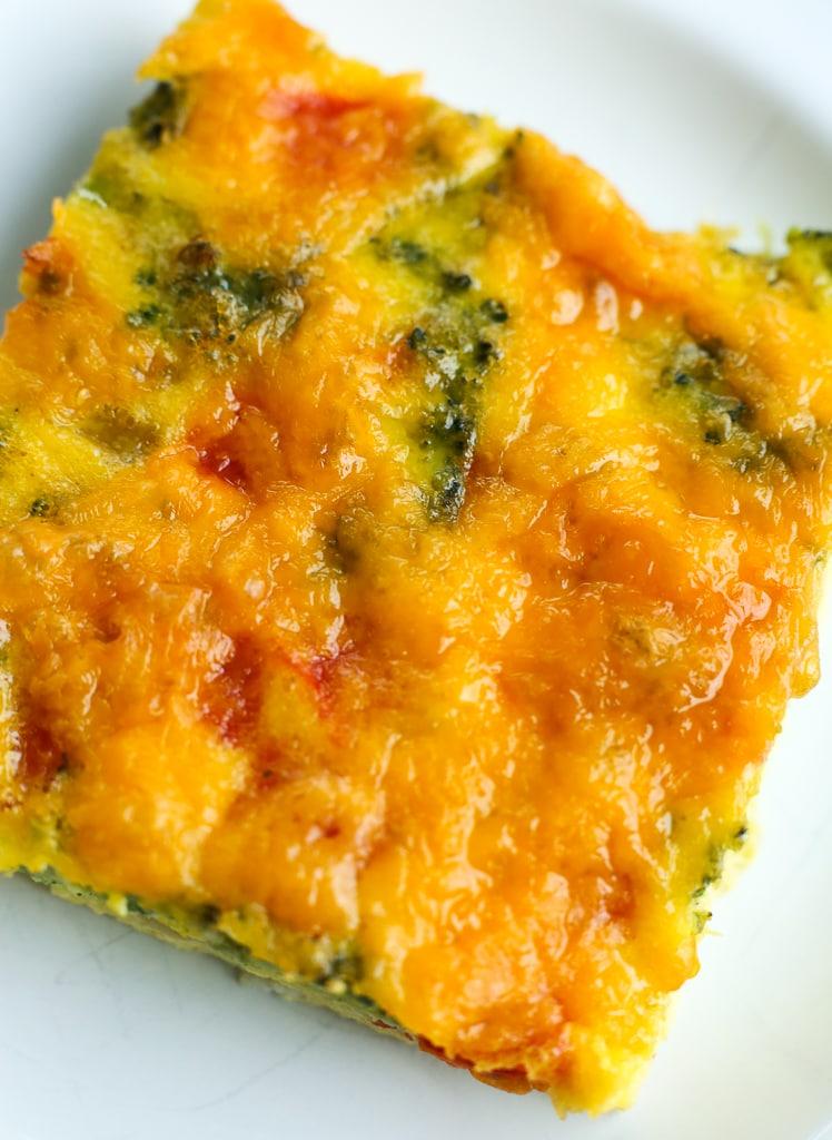 Easy Breakfast Egg Casserole recipe close up