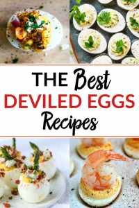 a Pinterest image for The Best Deviled Eggs Recipes