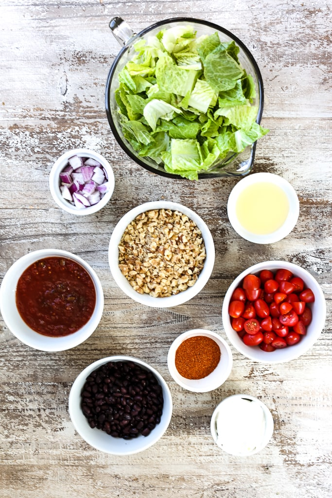 Vegan Taco Salad Recipe ingredients