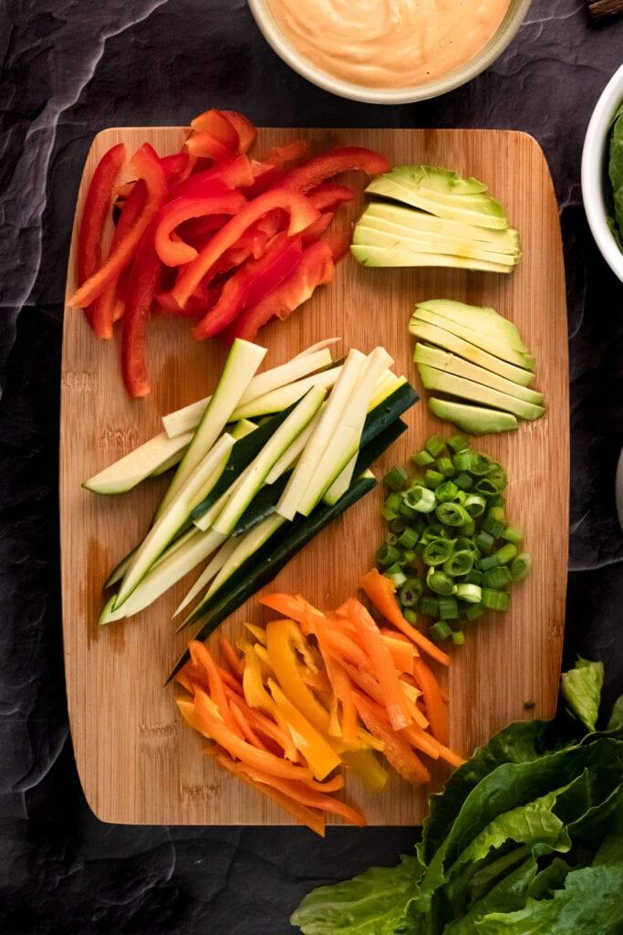 vegetables for Vegan Spring Rolls Recipe