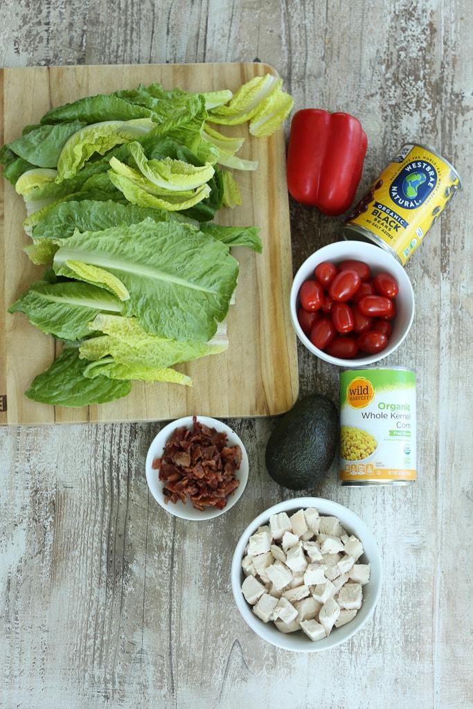 Southwest Chicken Salad Recipe ingredients