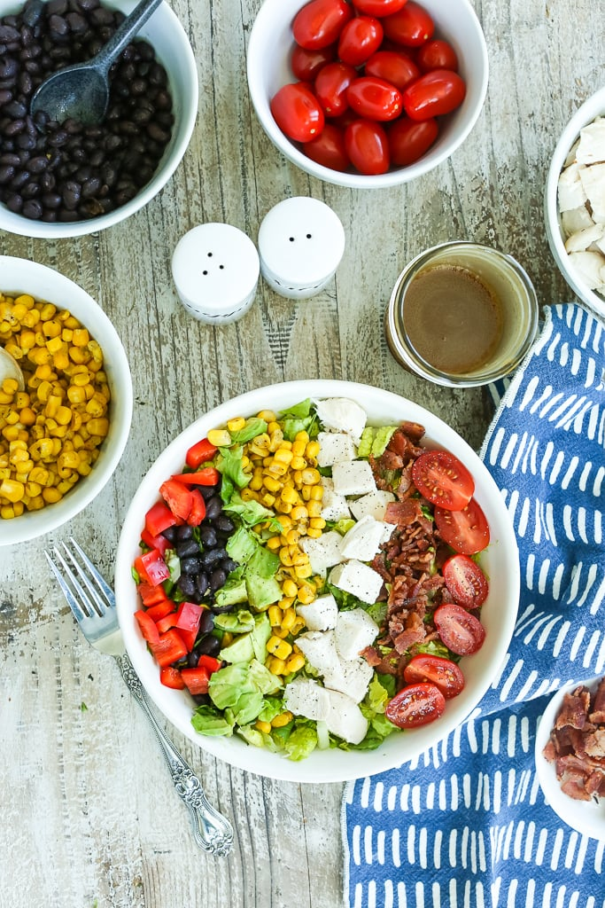 overhead shot of Southwest Chicken Salad Recipe