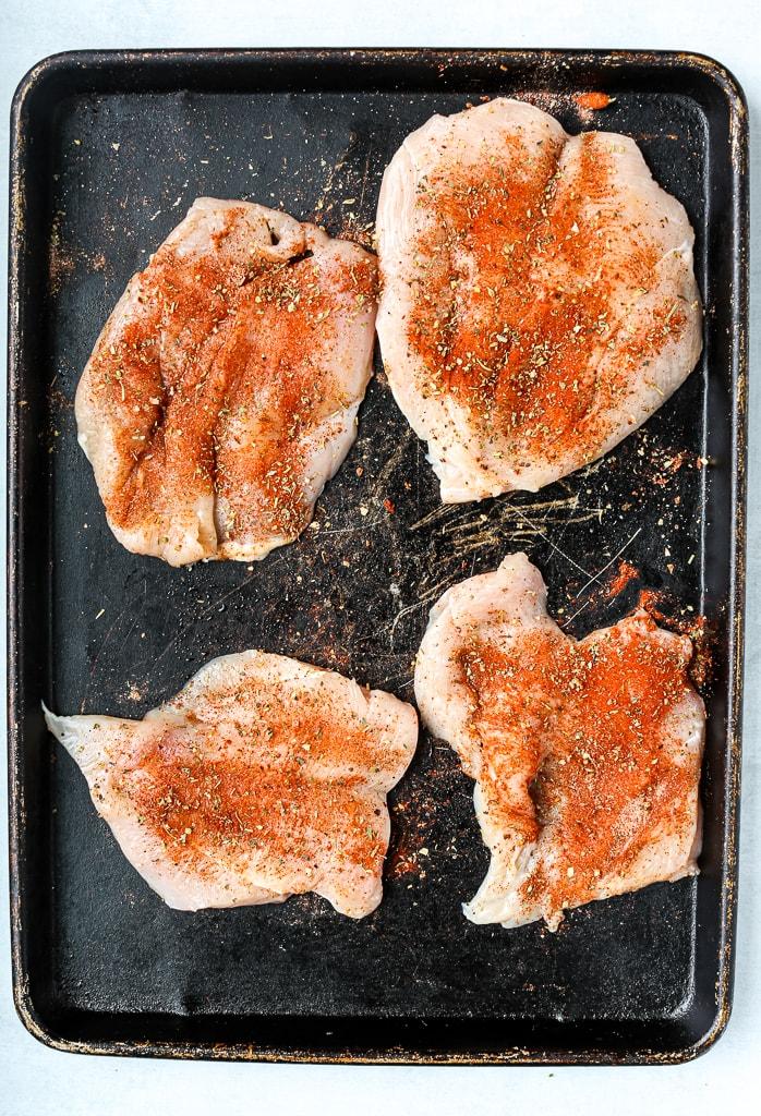 seasoned chicken breasts