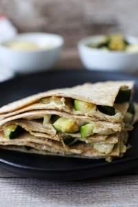 close up of Grilled Zucchini Quesadilla