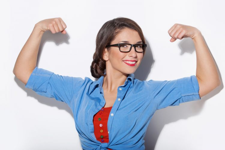 strong-woman-happy