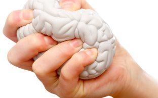 Brain being squeezed because of stress