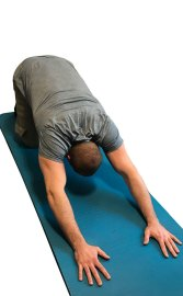 Child's Pose Stretch for Lower Back