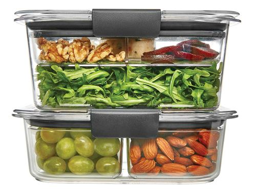 Portion Control Containers With Food