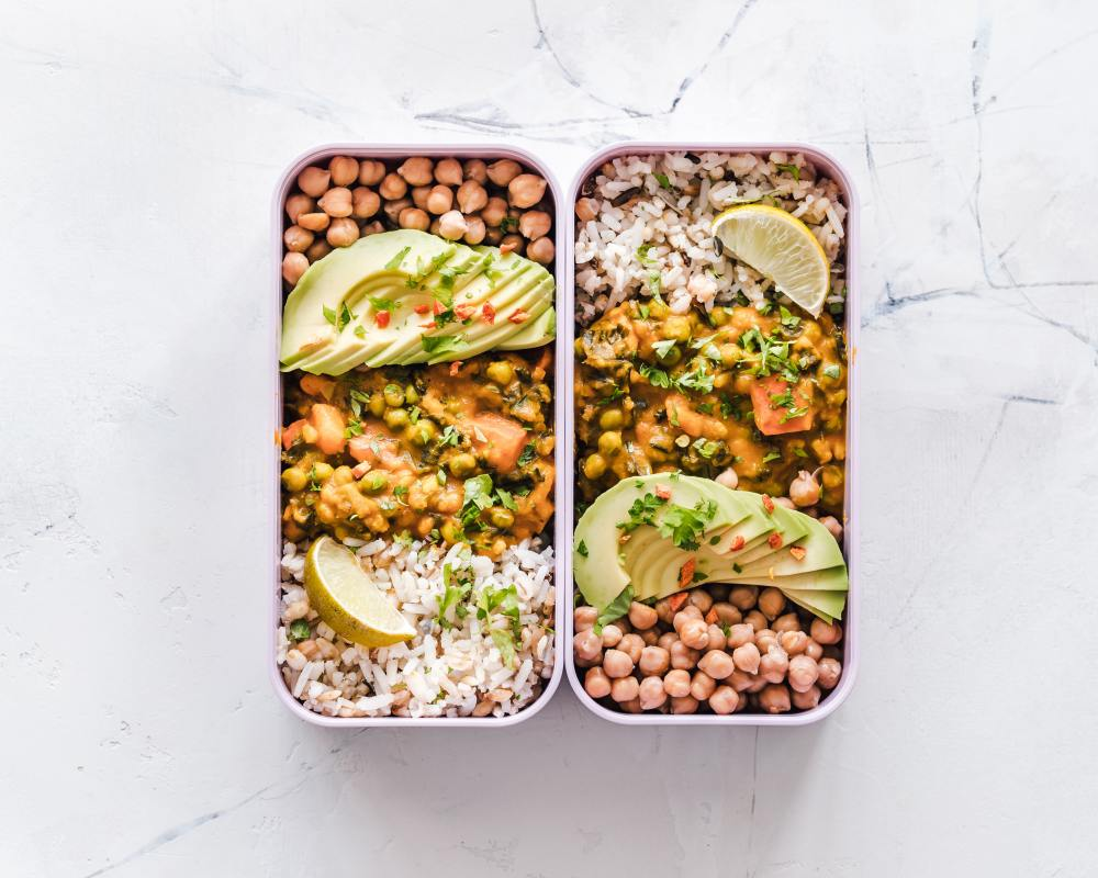 Healthy Lunch in Food Storage Containers