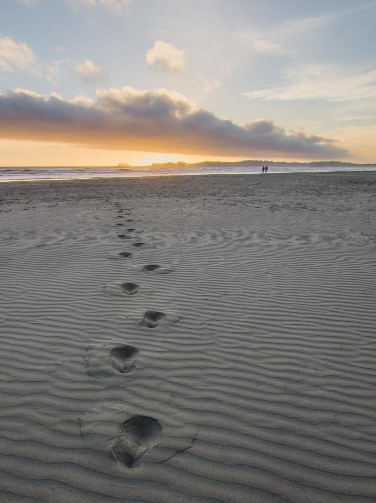 Footprints in the Sand from Walking