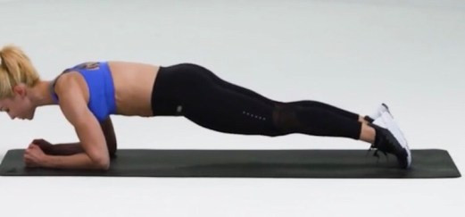 Body Saw Plank for HIIT Workout