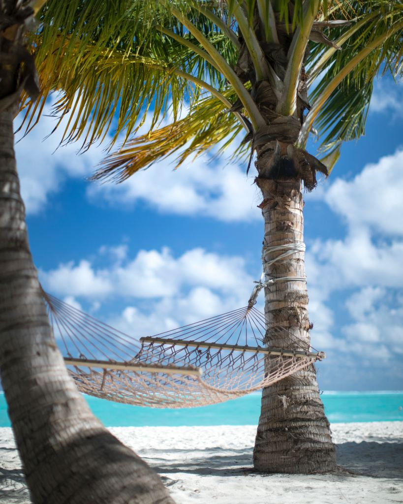 Hammock on a Beach for Stress Management During a Weight Loss Plateau