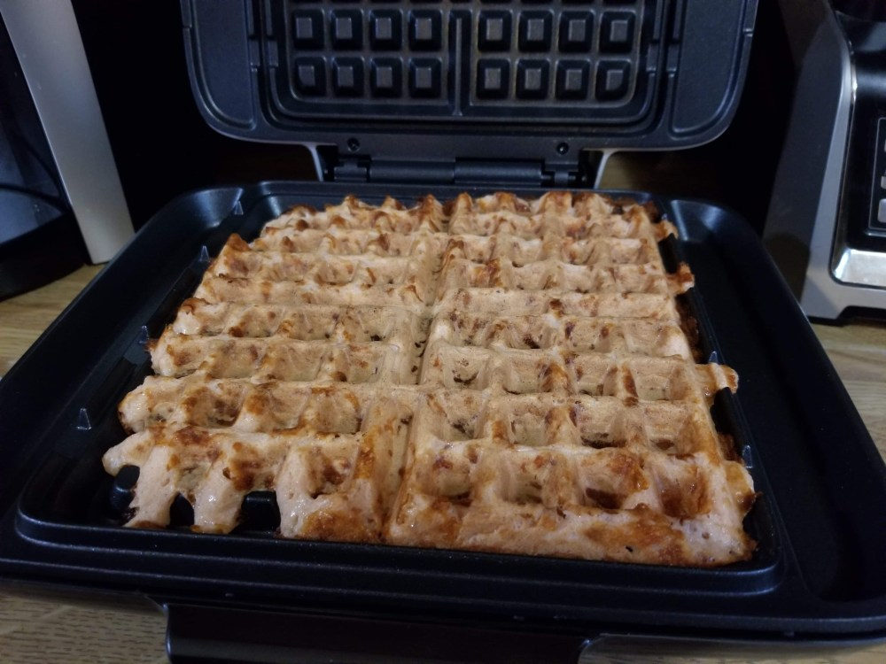Chaffle in a Waffle Iron