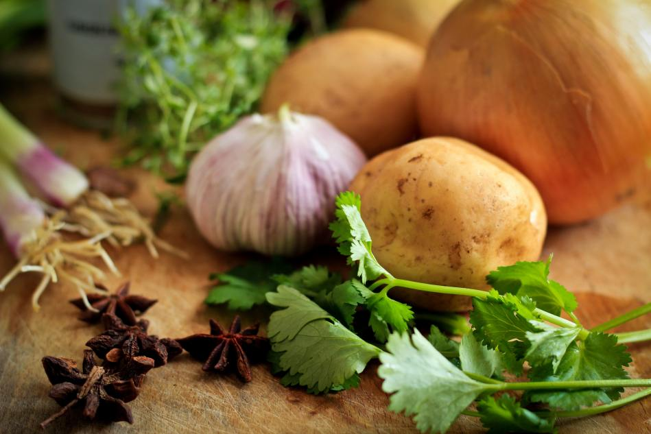Common Cooking Ingredients- Herbs, Spice, Onion, Potato
