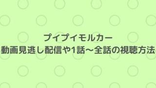 プイプイモルカーの動画見逃し配信と1話~全話の視聴方法は?