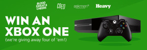 Win an XBOX One from @BloodSweatCheer @AskMen @HeavySan @COED