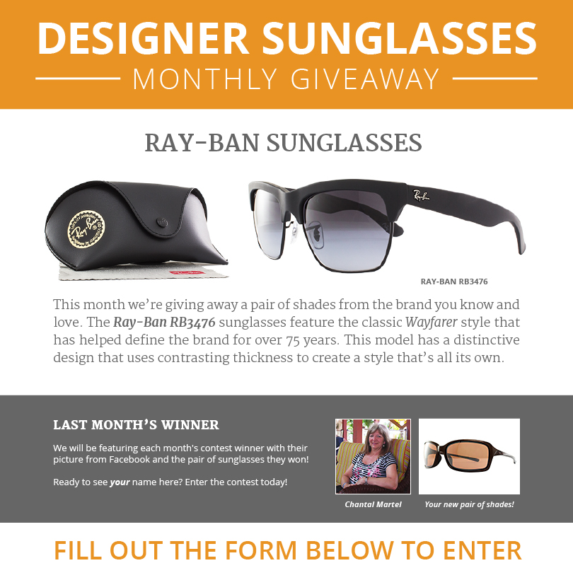 WORLD of EYES - Designer Sunglasses Monthly Sweepstakes