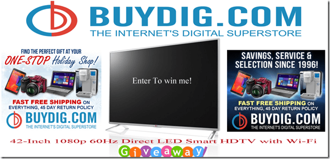 42 Inch Direct LED Smart HDTV With Wi-Fi Giveaway1