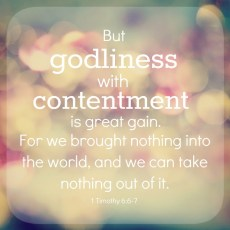 Sweat and Contentment