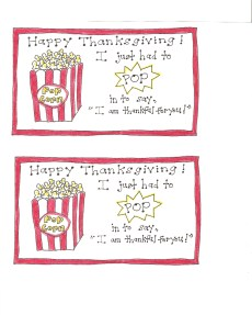 Thanksgiving Popcorn Tags – Version 2