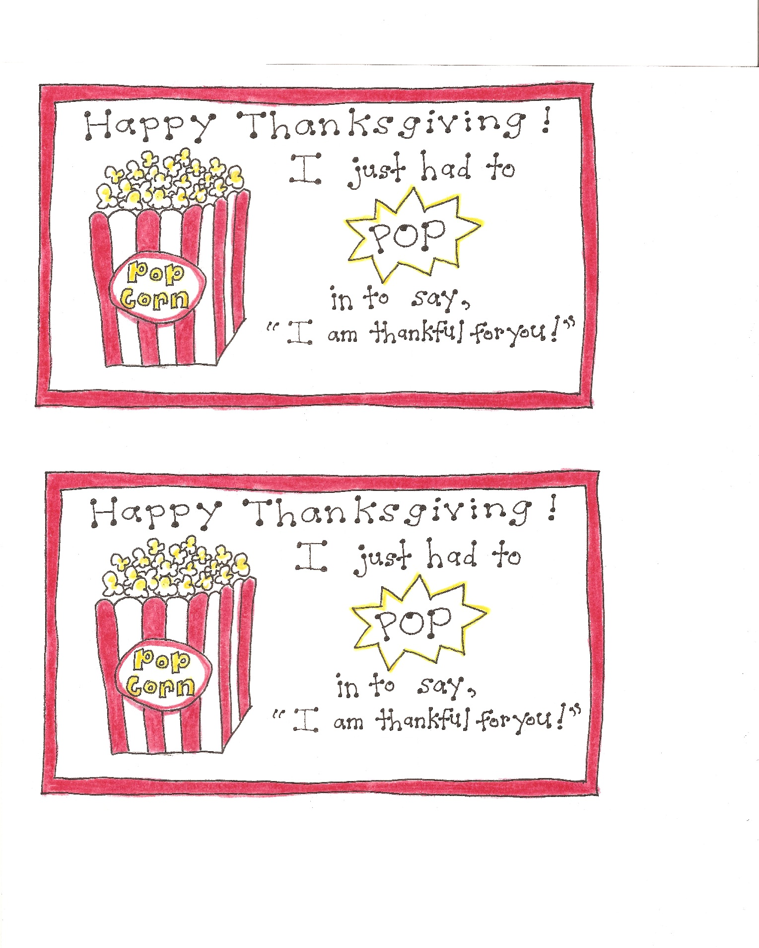 Thanksgiving Popcorn Tags - Version 2 - Happy Home Fairy