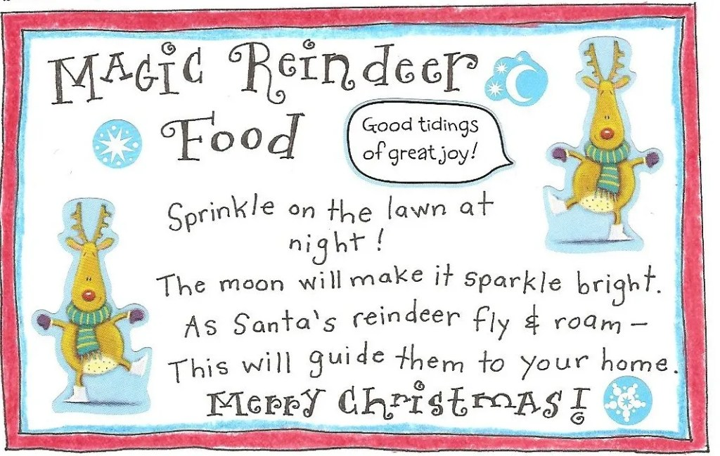Reindeer Food Magic Dust With Magical Poem For