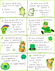 St. Patrick's Day Lunch Box Jokes – FREE Printable!