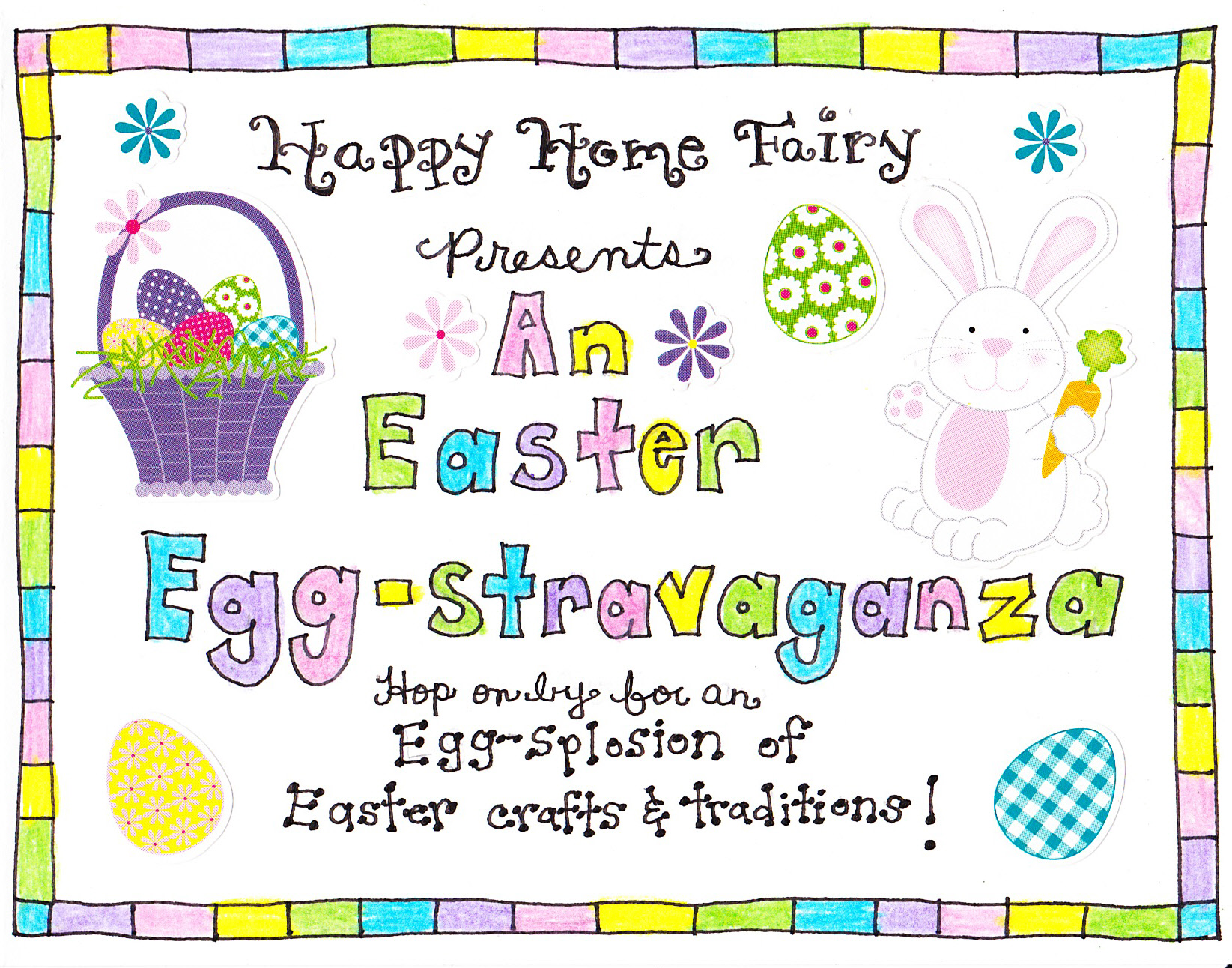 Easter morning scavenger hunt free printable happy home fairy negle Images