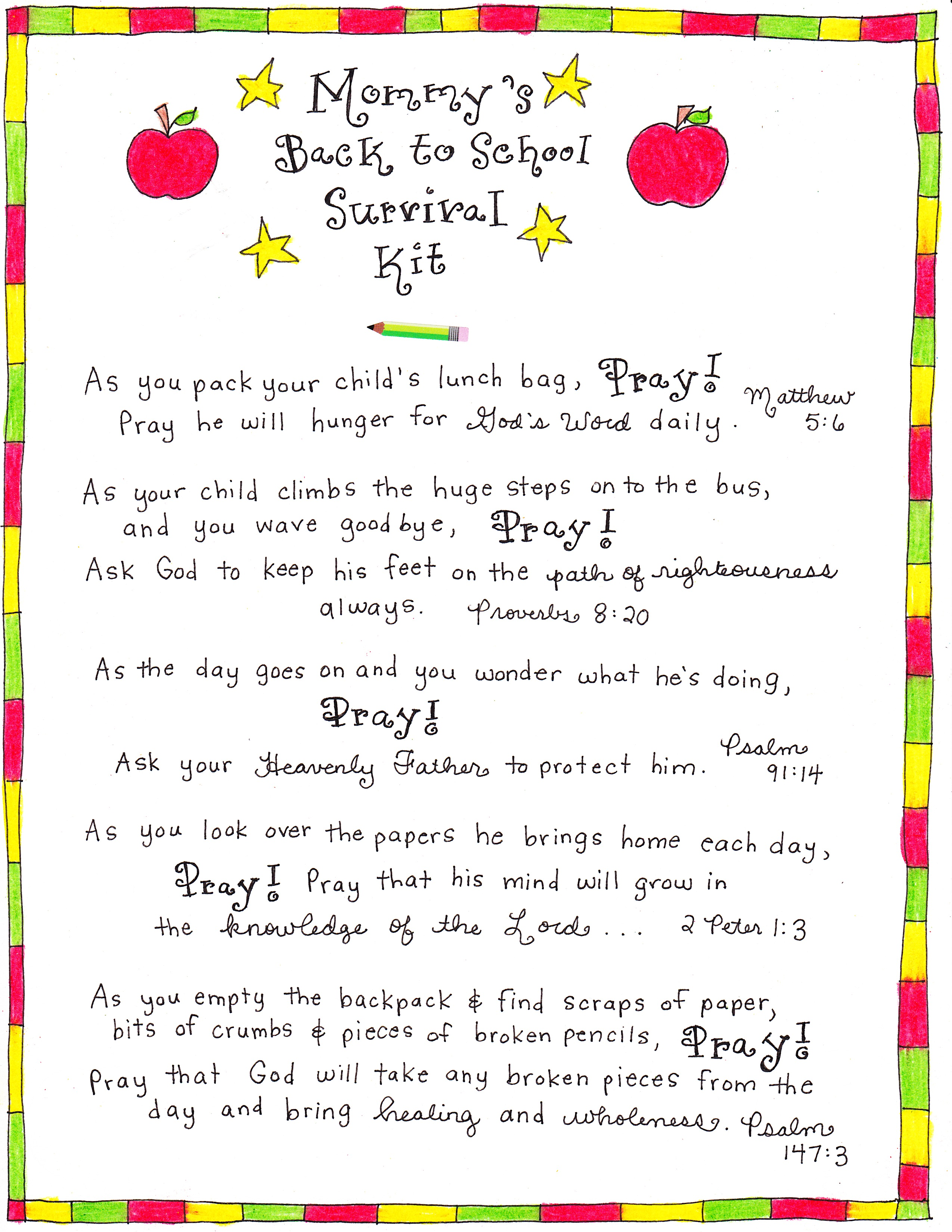 Mommy S Back To School Survival Kit