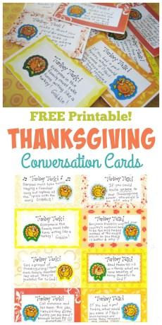 Thanksgiving Conversation Cards – FREE Printables!