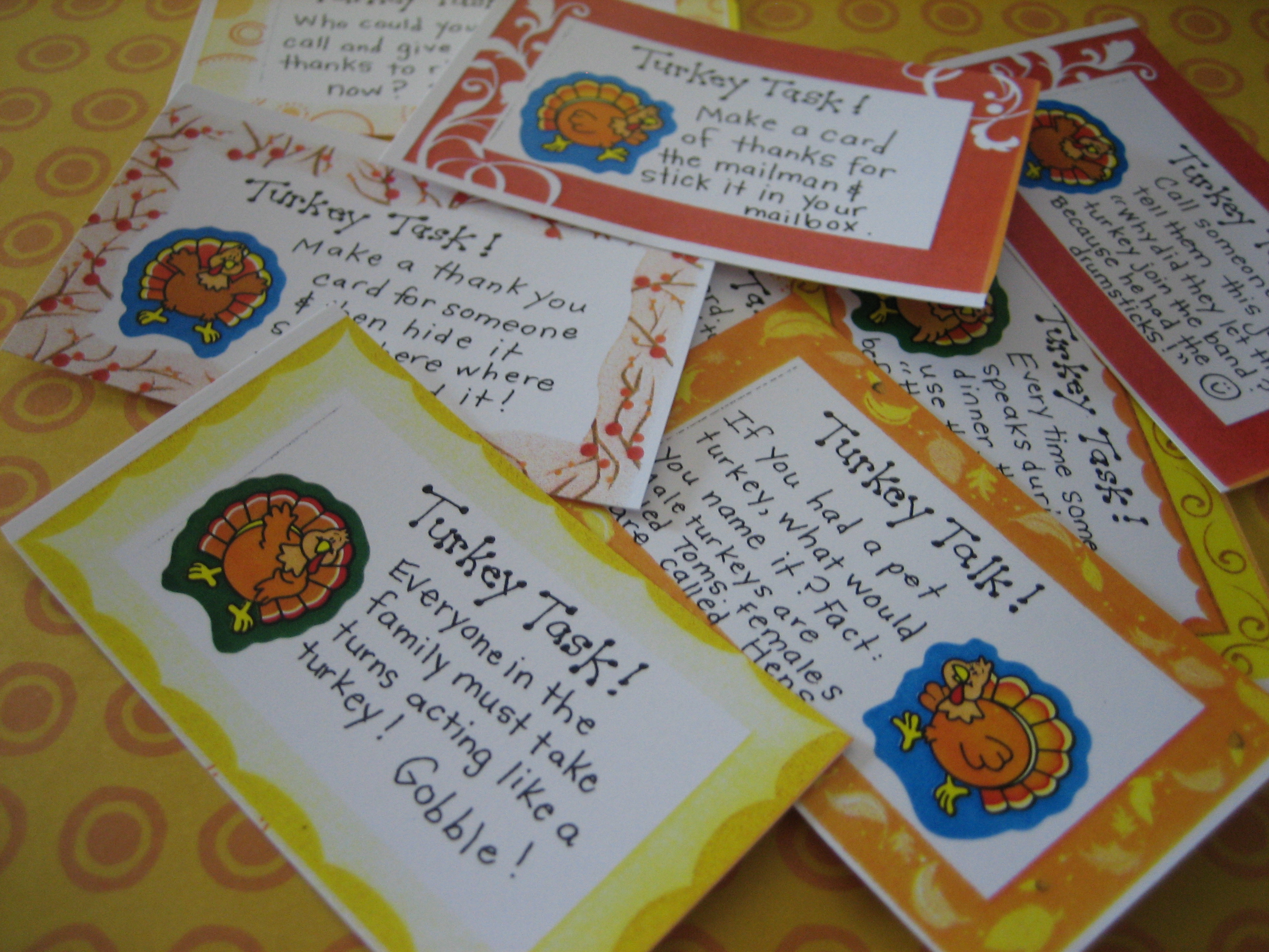 Thanksgiving Conversation Cards - FREE Printables! - Happy Home
