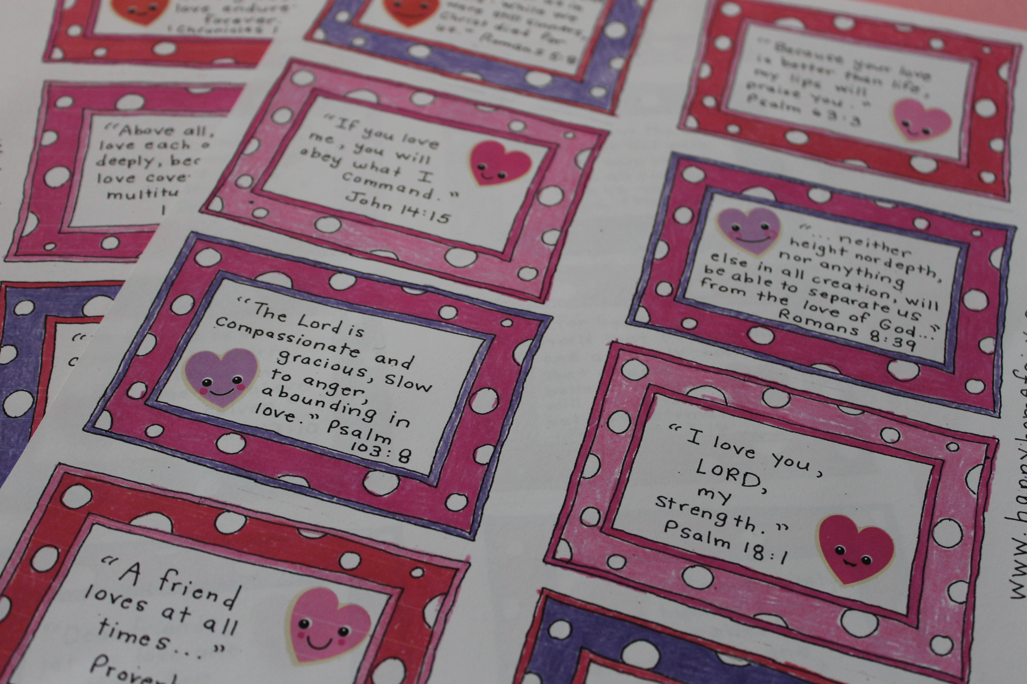 today you can download 14 days worth of free printable bible verse cards that celebrate gods love see bottom of post for download
