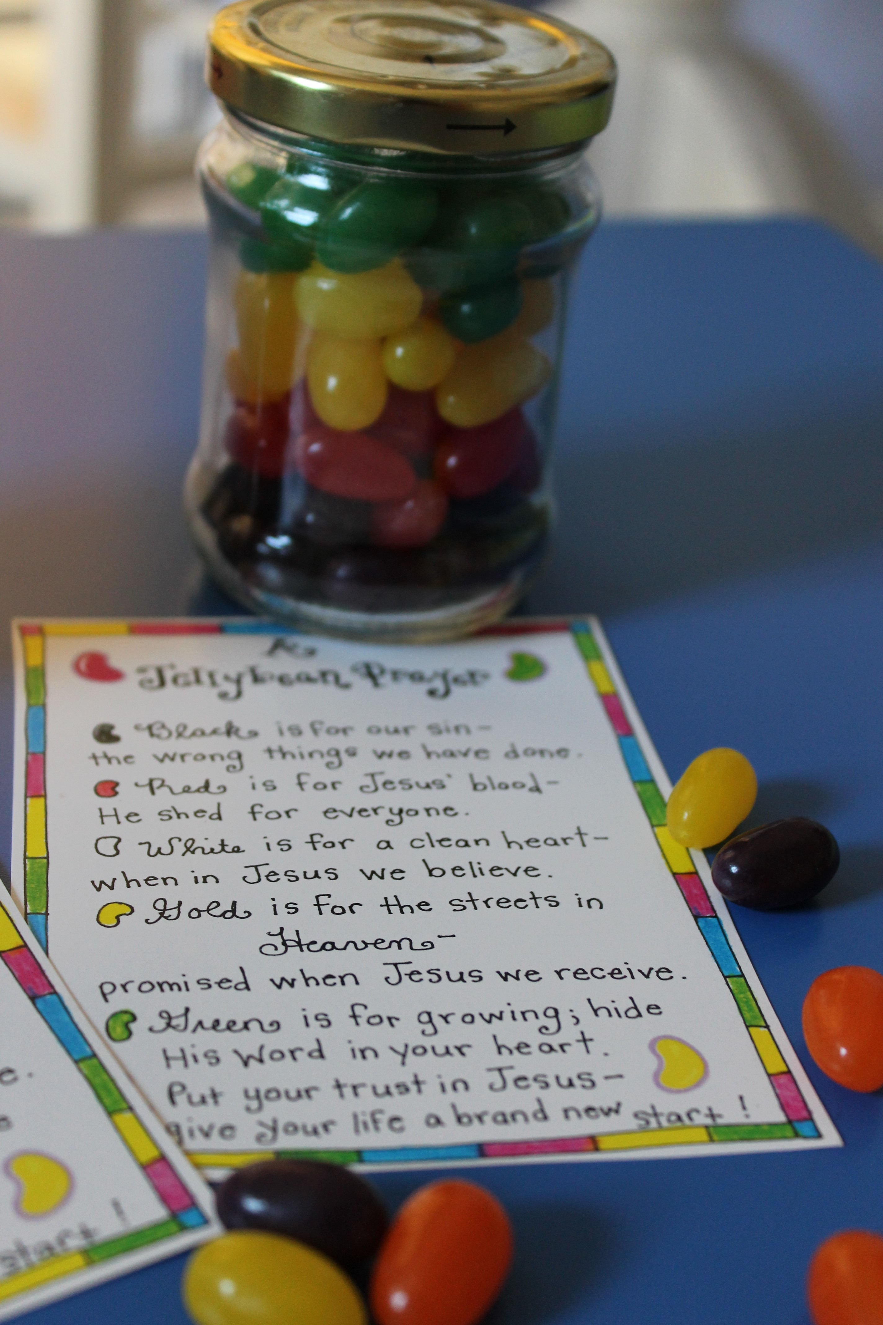 The jellybean prayer free printable happy home fairy or it would make a great christ centered addition to your happy buddys easter basket negle Choice Image