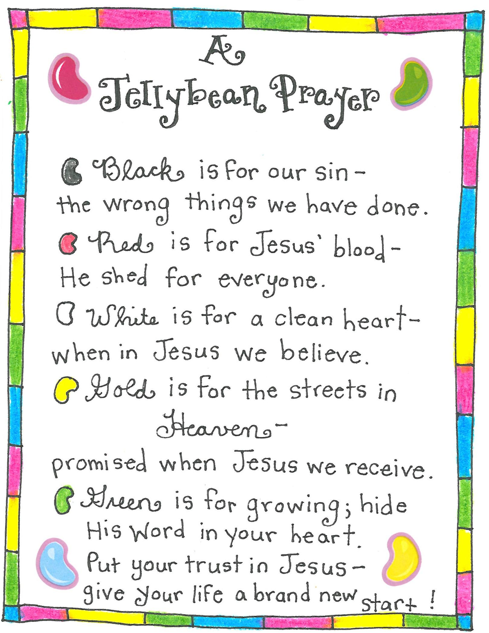 graphic relating to Wordless Book Printable identify The Jellybean Prayer - No cost Printable! - Content Dwelling Fairy