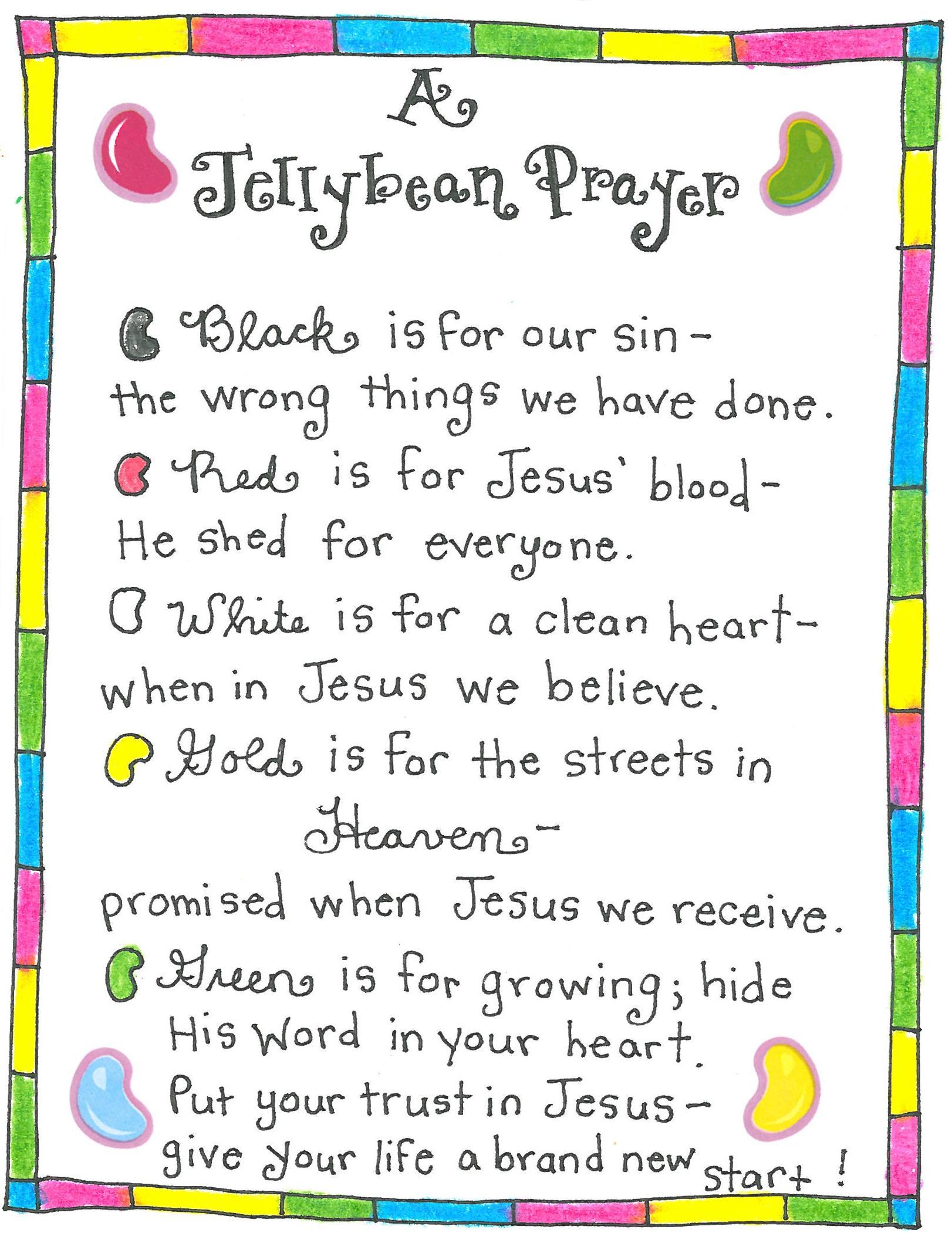 graphic regarding Wordless Book Gospel Printable titled The Jellybean Prayer - No cost Printable! - Pleased Household Fairy
