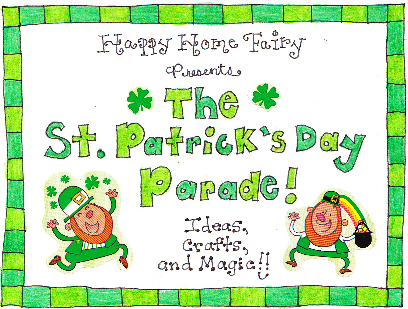 St. Patrick\'s Day FREE Printables - Happy Home Fairy
