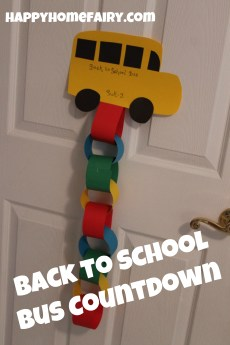 Back to School Bus Paper Chain Countdown