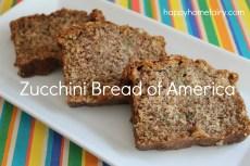 Recipe – Zucchini Bread of America