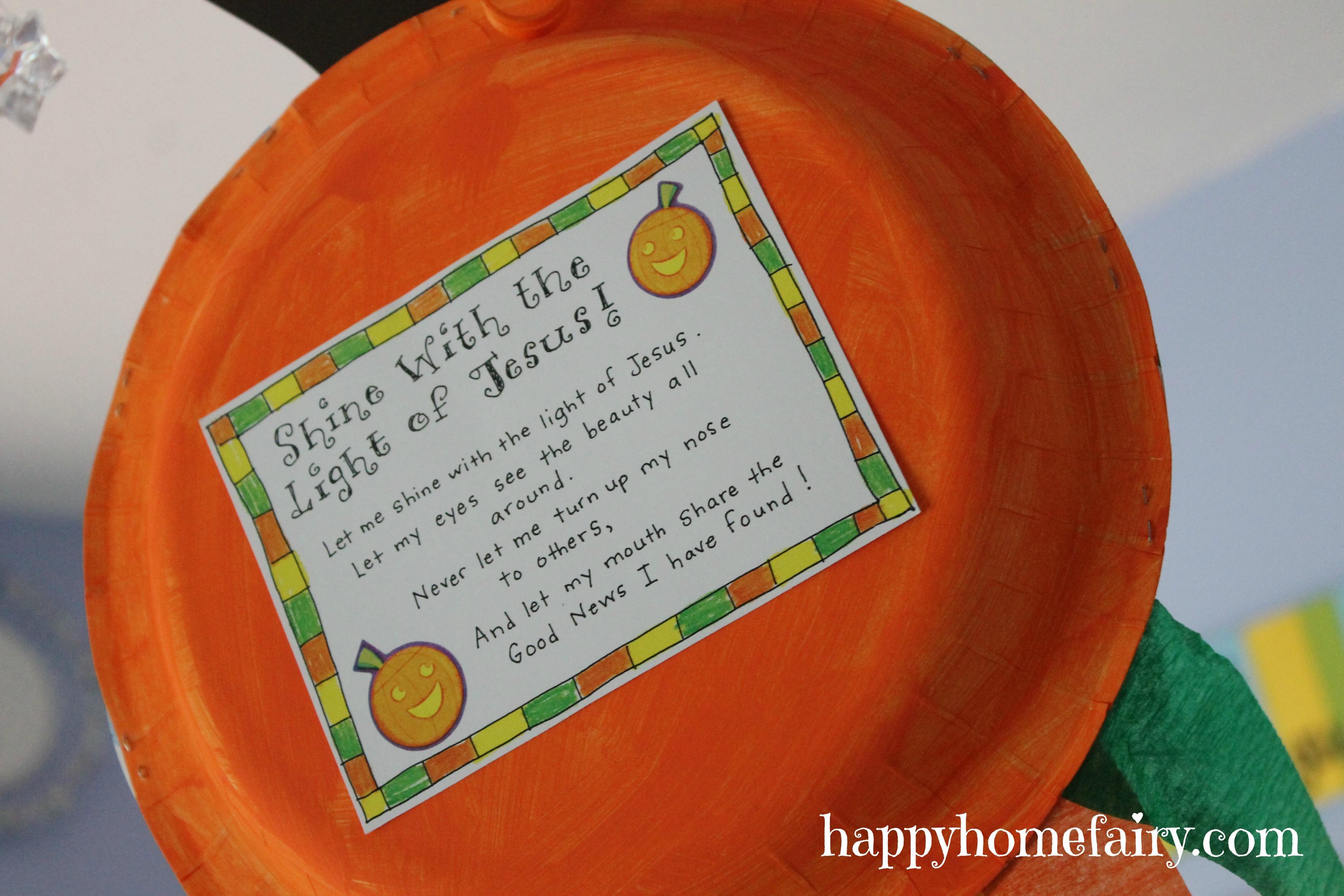 A Christian Pumpkin Windsock Craft