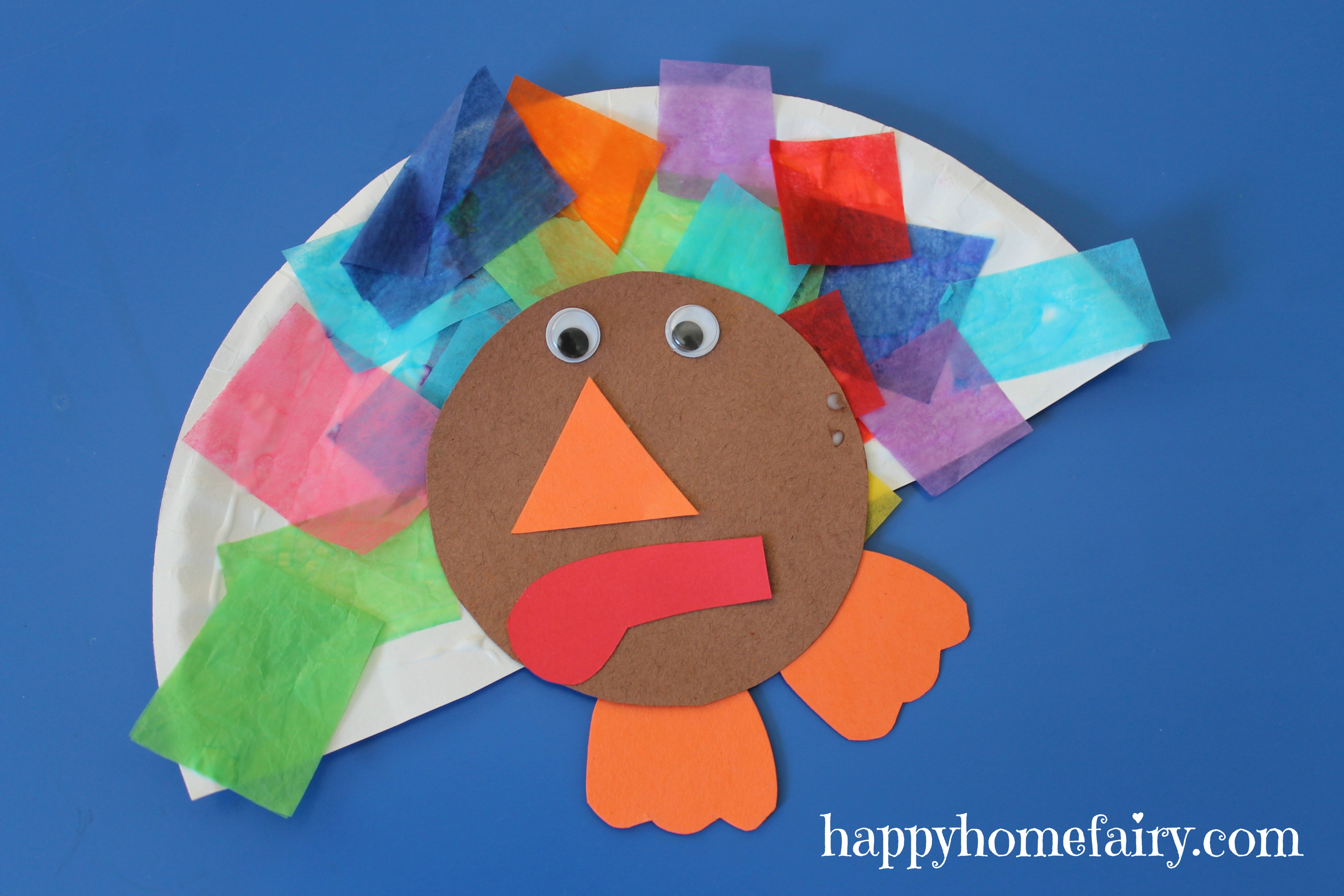 Step 6 – Voila! A colorful little turkey!