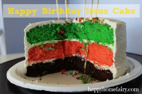 happy birthday jesus cake at happyhomefairy.com