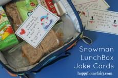 Snowman Lunchbox Jokes – FREE Printable!