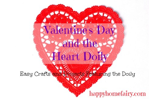 heart doily crafts and ideas at happyhomefairy.com