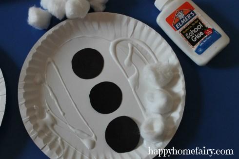 snowman cotton balls