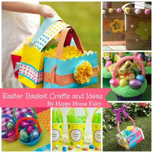 Easter Basket Craft Ideas at happyhomefairy.com - so cute and so many easy ideas! You don't need to spend money on a fancy basket with this brilliance!!
