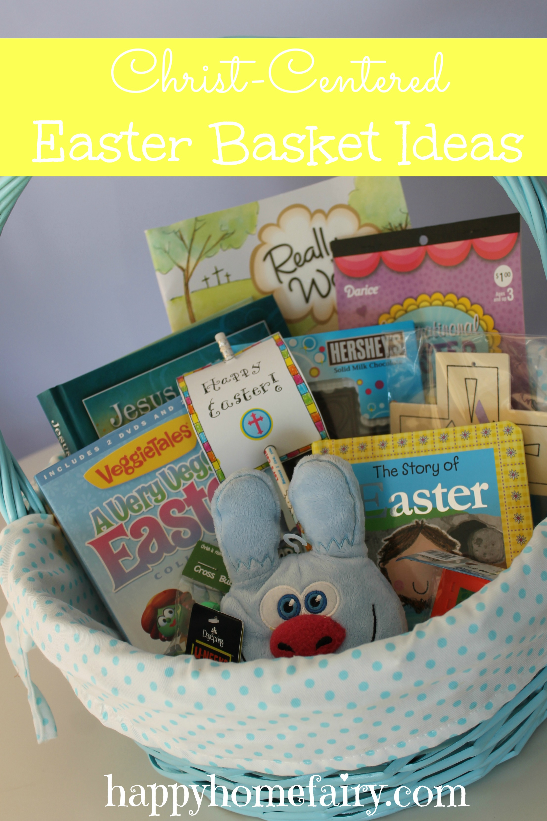 Christ centered easter basket ideas happy home fairy christ centered easter basket ideas negle Images