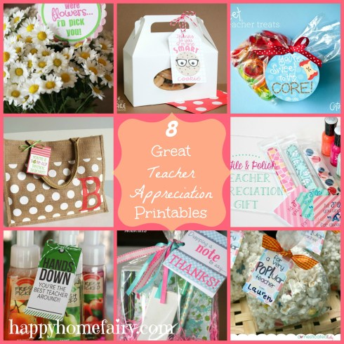 8 great teacher appreciation printables at happyhomefairy.com