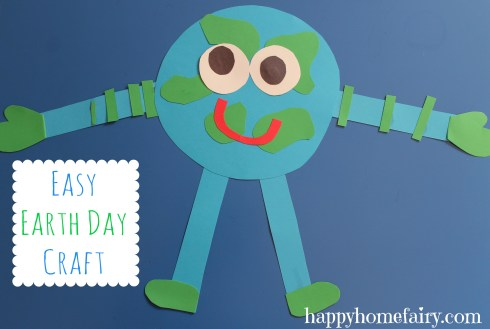 easy earth day craft at happyhomefairy.com