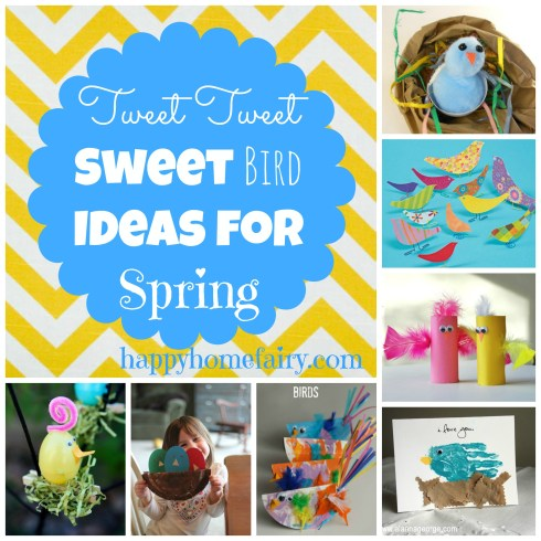 sweetest bird crafts for spring at happyhomefairy.com